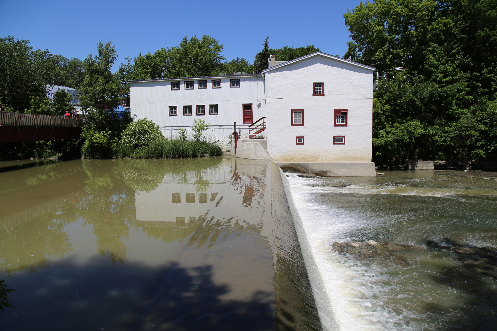 A picture of the moulin Legare the oldest functional water powered mill in North America